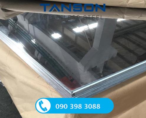 Tấm inox 316/316L No.8-Độ dày: 0.3mm-0.4mm-0.5mm