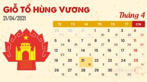 Lịch nghỉ ngày Giỗ tổ Hùng Vương năm 2021